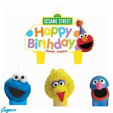 Sesame Street Elmo Birthday Candle Set Cake Toppers Decorations 4pc Party Supply