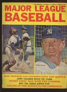 1963 Major League Baseball Magazine With Mickey Mantle Cover VG