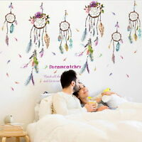 Campanula Windchime Feather Removable DIY Room Wall Stickers Decals Home Decor