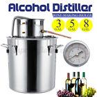 3/5/8G  2POT Alcohol Distiller Brewing Kit Moonshine Still Stainless Win