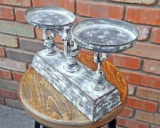 Rustic Vintage Antique Style Small Metal Kitchen Food Scale Faux Aged Finish