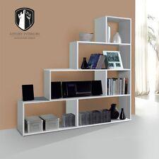 Libreria Clim scaffale a gradini design moderno bianco lucido arredo casa studio
