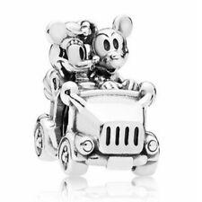 NEW Mickey & Minnie Mouse Vintage Car Charm European Charm Bracelet Pendant Bead