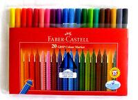 Faber Castell 20 Stück Grip Colour Marker Ergonomic Grip-Zone