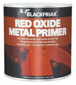 Blackfriar Red Oxide Primer Metal Iron Steel Prevents Rust Anti-Corrosive 250ml