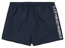 EA7 Emporio Armani Side Logo Mens Navy Blue Swim Shorts M L XL