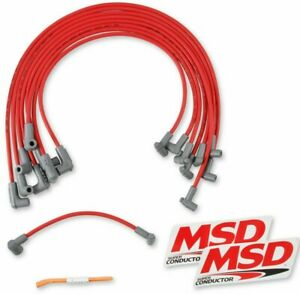 MSD Spark Plug Wire Set Super Conductor 8.5mm Red FOR Chevy 262-400 SBC (35599)