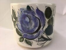 ARABIA FINLAND ATELJE BLUE FLOWER BOWL VASE JAR
