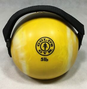 Golds Gym 5 Lb Yellow Soft Weight Medicine Ball Handle Weight Kettlebell