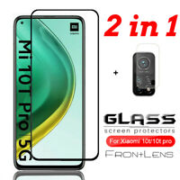 2in1 For Xiaomi Mi 10T/10T Pro Tempered Glass Screen Protector +Camera Lens Film