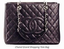 Chanel Quilted Caviar Classic Large Grand Shopping Tote In Espresso Brown NWT