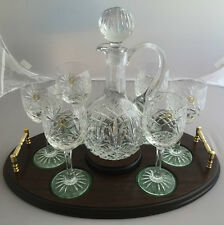Passing The Port Set Of Glasses And Decanter On Tray