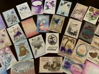 Lot of 54 Vintage ~AIRBRUSHED~Embossed ~Antique~EASTER~Postcards-c460