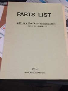 Nikon Original Factory Service Repair Manual SD-6 SD-7 Speedlight Battery Pack