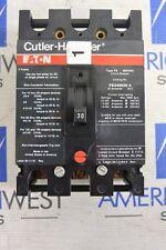 EATON CUTLER HAMMER FS340030A F FRAME 3P 480V 30 AMP CIRCUIT BREAKER - TESTED