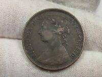 Better Grade 1891 Half Penny GB Great Britain Young Head Victoria.  #27