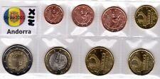 EURO ANDORRA anni misti - 8 monete FDC in blister da 1 CENT A 2 €