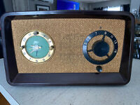 Rare Large 1950s Sessions Regal Regaloop Bakelite Mantel Tube Clock Radio !