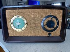 New ListingRare Large 1950s Sessions Regal Regaloop Bakelite Mantel Tube Clock Radio !