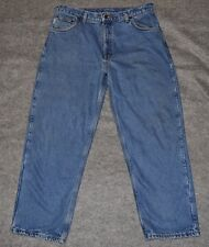 CARHARTT FLANNEL LINED RELAXED FIT STRAIGHT LEG JEAN Blue Denim 36 x 30 jeans