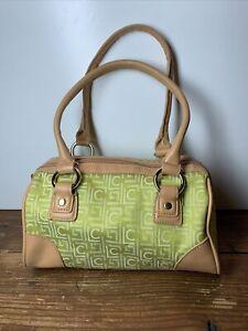 Green And Tan Liz Claiborne Handbag