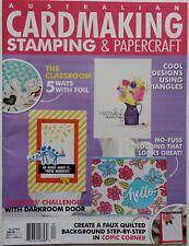 Australian Cardmaking, Stamping and Papercraft Scrapbooking Magazine Vol 22 No.8