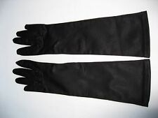 "NEYRET DE FRANCE LONG (12 1/2"") Noir Stretch Gants. Taille 6 1/2 (ref 11)"