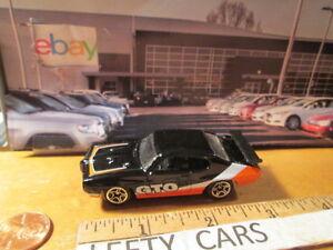 '70 black,white,orange PONITAC GTO 1/64 SCALE Rare! - LOOSE! NO BOX!