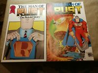 MAN OF RUST THE RETOLD STORY COMICS LOT OF 2 - #1A, & #1B - Superman parody
