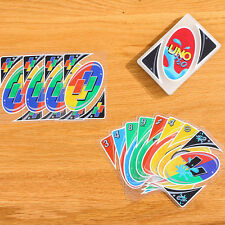 2 PCS New Family Fun  UNO H2O Waterproof Clear Game Playing Plastic Card