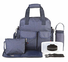 Allis Baby Luxury Changing Bag Nappy Diaper Backpack Large Size 7PCs - Navy