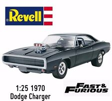 NEW REVELL FAST AND FURIOUS 1970 VINTAGE DODGE CHARGER PLASTIC MODEL W/FREE GLUE