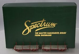 Bachmann 26511 On30 Narrow Gauge 18' Flat Car Data Only - Oxide Red (Pack of 2)