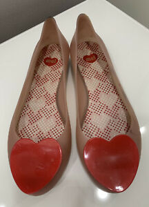 Melissa Jelly Rubber Shoes With Heart Motif Size:5