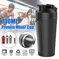 700ML Eiweiß Protein Shaker Nutrition Edelstahl Fitness Proteinshaker