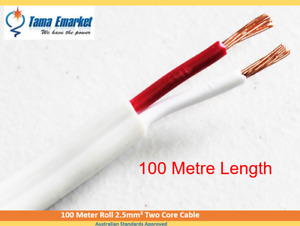 100 Meter Roll Electrical Lighting Cable 2.5mm² TPS Two Core Wire