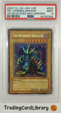 PSA 9 - Yugioh - Tri-Horned Dragon - LOB-000 - Secret Rare