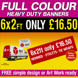 PVC Banners 6x2ft Outdoor Vinyl Pvc Banner Advertising Sign Display 001a