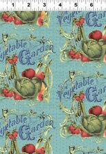 """VINTAGE SEEDPACKETS-SKY""  by IRON ORCHID DESIGNS for CLOTHWORKS  **ONE YARD**"