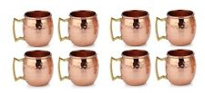 100% Authentic HAMMERED COPPER MOSCOW MULE SHOTS MUG  2-Ounce Set Of 8