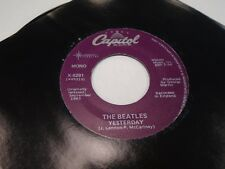 The Beatles Act Naturally/Yesterday [both in mono] 45 RPM Capitol Records EX
