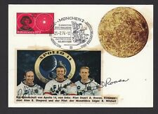 More details for apollo 14 - full crew signed cover  - alan shepard, ed mitchell, stuart roosa.