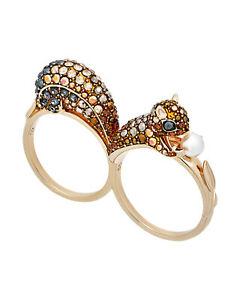 Swarovski March 23K Gold-Plated Crystal Ring 5448908