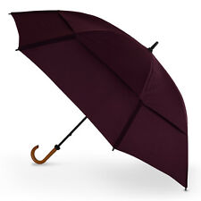 "GustBuster Doorman 62"" Super Strong Vented Hook Handle Umbrella - Burgundy"