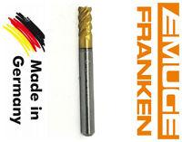 franken VHM GERMANY Solid Carbide End Mill R0.5 6mm Shank Dia 6mm TiAIN 4-Flute