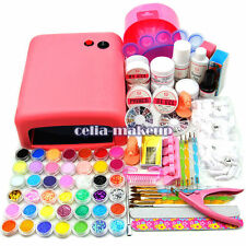 Coscelia Pro 36W UV Lamp Light Dryer Gel Polish Nail Art Tips Glitter Kit Sets