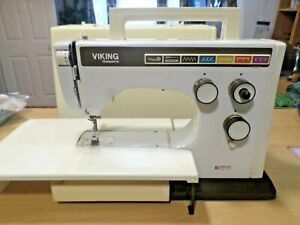 Sewing machine Husqvarna Viking  model 55-40 with case and foot pedal  sweden