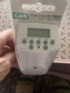GA Mini Digital Timer 240V-Brand New