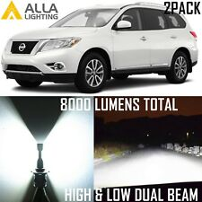 Alla Lighting Headlight 9007 High Low Beam LED Bulbs Lamp for Nissan Pathfinder