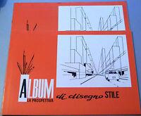 PRL) ALBUM DA DISEGNO STILE RUVIDO 10 FOGLI PAGINE 24,5x35 cm 1980 PROSPETTIVA